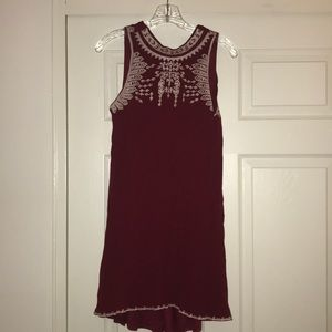 A red dress with white stitching